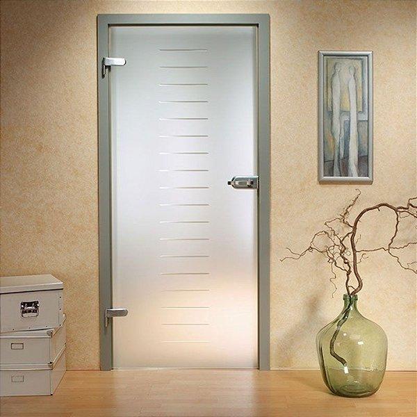 Adesivo decorativo jateado para portas - 215x100cm (para portas de 50 até 100 cm de largura)