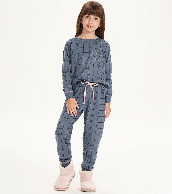 Pijama Manga Longa Feminino Infantil Bed All Day