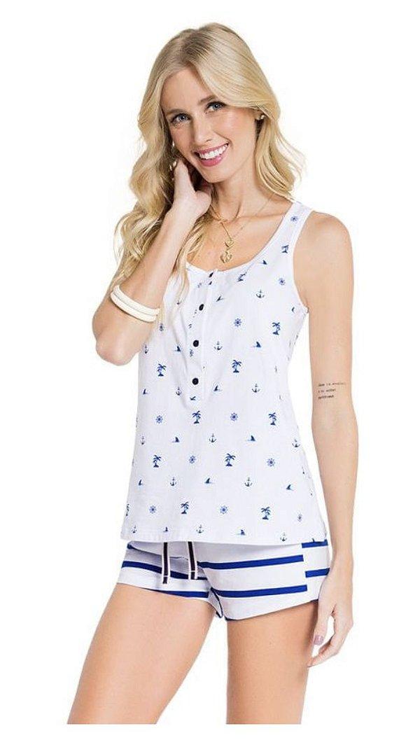 Pijama Regata com Abertura Whale