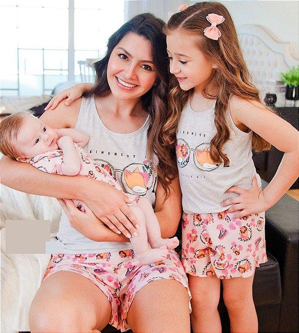 Pijama Mãe Raposa - Coleção Mãe e Filha
