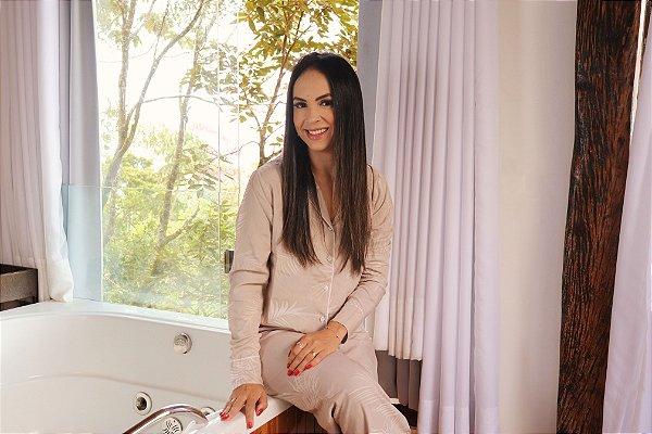 Pijama Paris Calça e Manga Longa