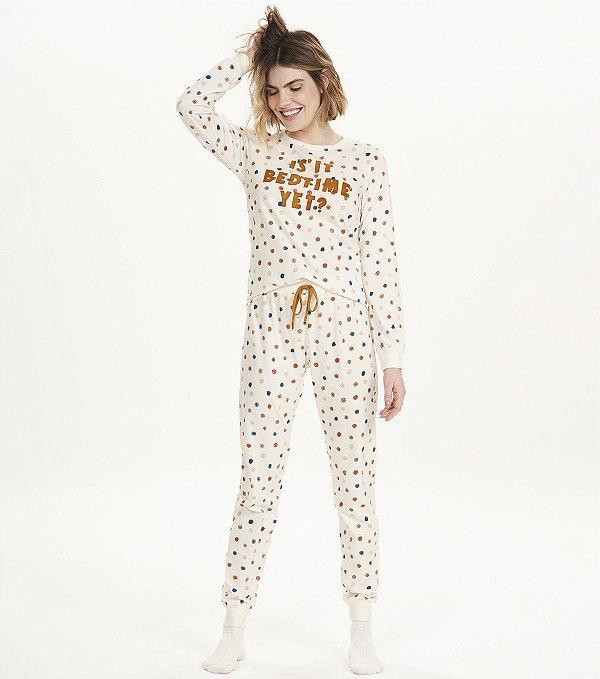 Pijama Bedtime Calça e Manga Longa
