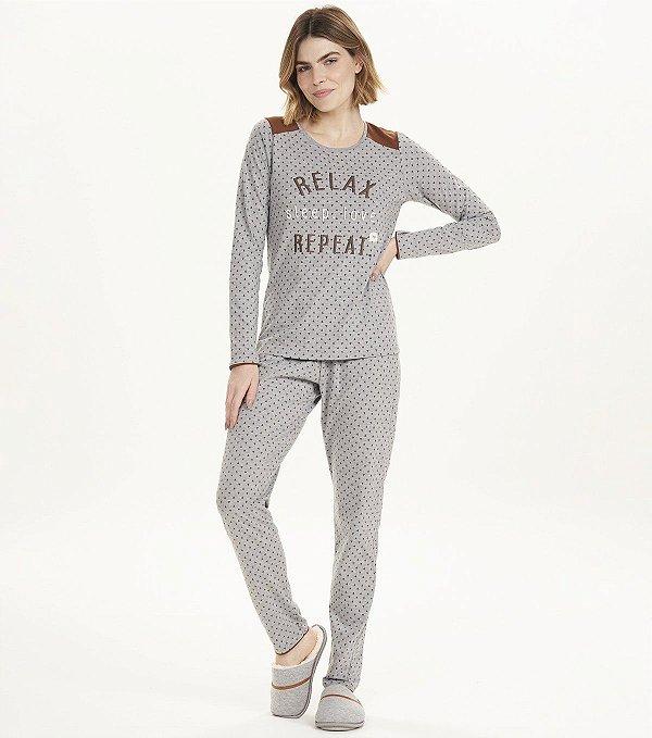 Pijama Manga Longa Relax