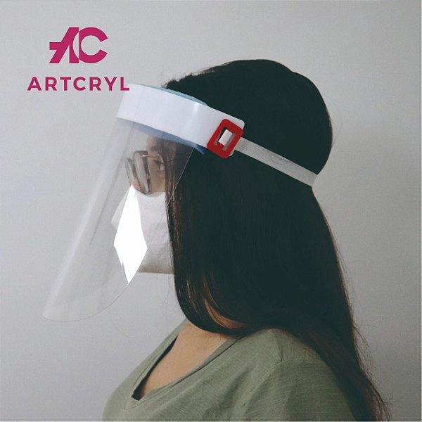 Máscara facial (Face Shield) Adulto com visor em PETG 0.50mm (20 peças)