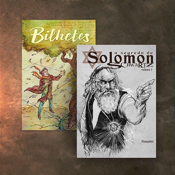 COMBO 2Hqs -  Bilhetes + O Segredo de Solomon Schwartz