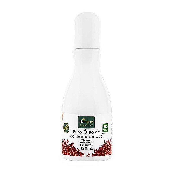 Livealoe - Puro óleo de semente de uva - 120ml
