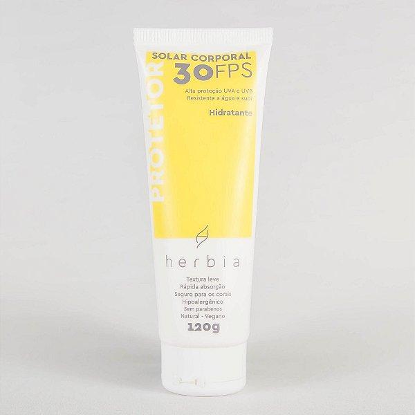 Herbia - Protetor Solar NATURAL   VEGANO   FÍSICO   Corporal FPS 30 - 120G