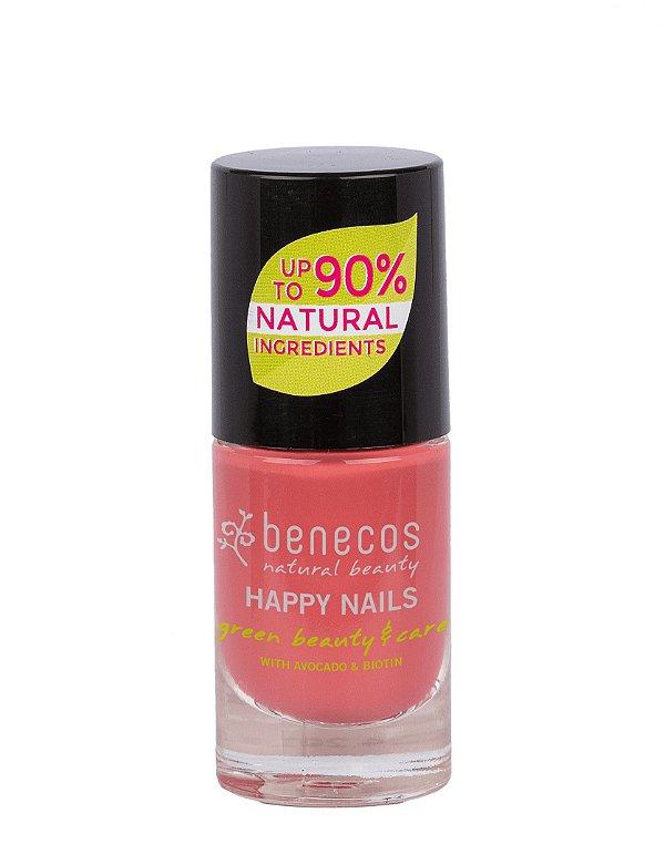 """Benecos - Esmalte 90% Natural """"Happy Nails"""" - Flamingo (5ml)"""
