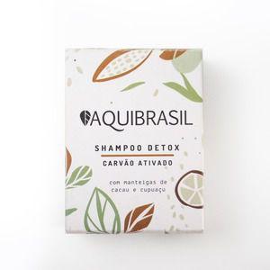 AquiBrasil - Shampoo Sólido Detox - Carvão Ativado 90g