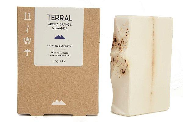 Terral Natural - Sabonete purificante de Argila Branca e Lavanda 125g