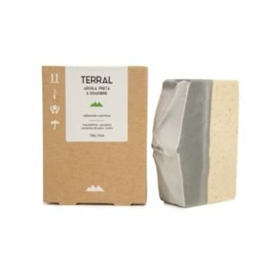 Terral Natural - Sabonete nutritivo de Argila Preta e Gengibre 130g
