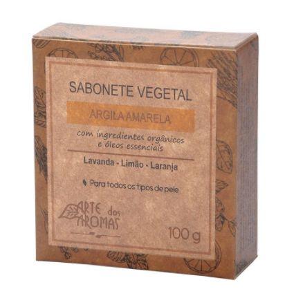 Arte dos Aromas - Sabonete Vegetal de argila amarela 100g - Outlet
