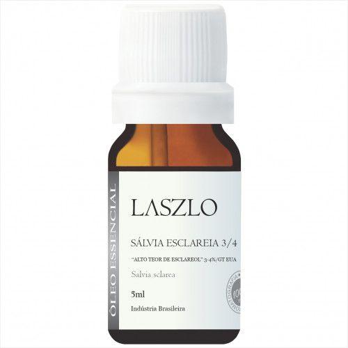 Laszlo - ÓLEO ESSENCIAL SALVIA ESCLAREA 3/4% DE ESCLAREOL GT EUA 5ML