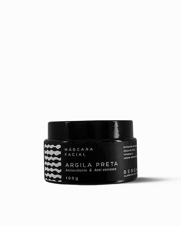 Bergamia - Máscara Facial de Argila Preta - 100g