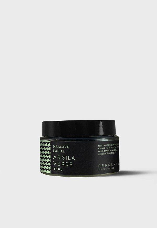 Bergamia - Máscara Facial de Argila Verde - 100g
