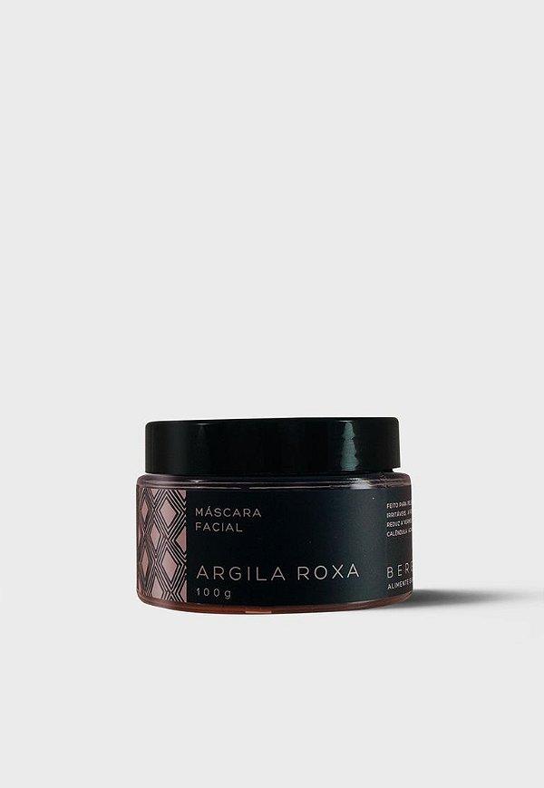 Bergamia - Máscara Facial de Argila Roxa - 100g
