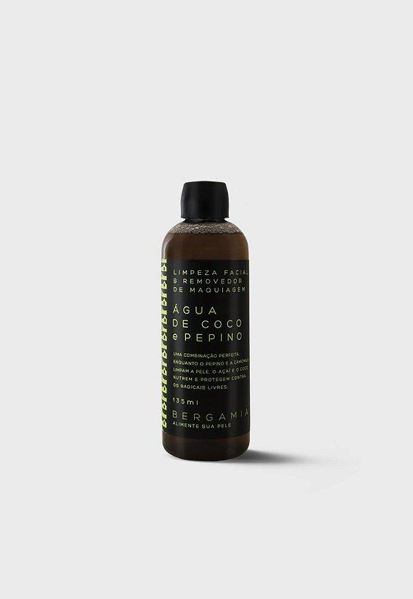 Bergamia - Limpeza Facial e Removedor de Maquiagem de Água de Coco e Pepino 135ml