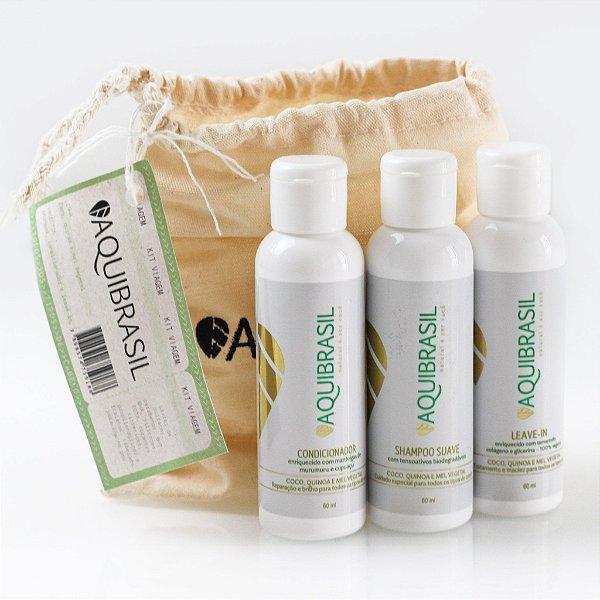 AquiBrasil - Kit Viagem – Coco, Quinoa e Mel Vegetal