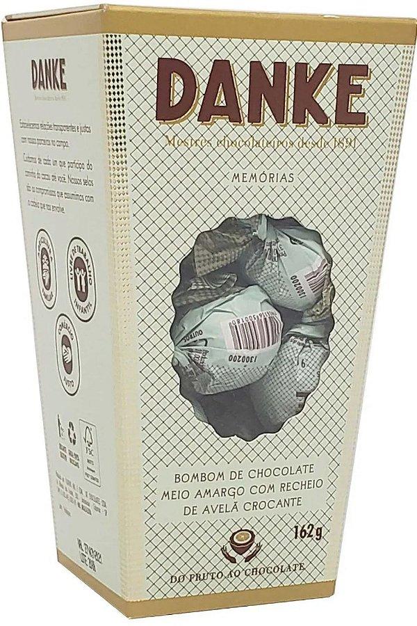Caixa Bombons Danke Chocolates Meio Amargo Com Recheio De Avelã Crocante