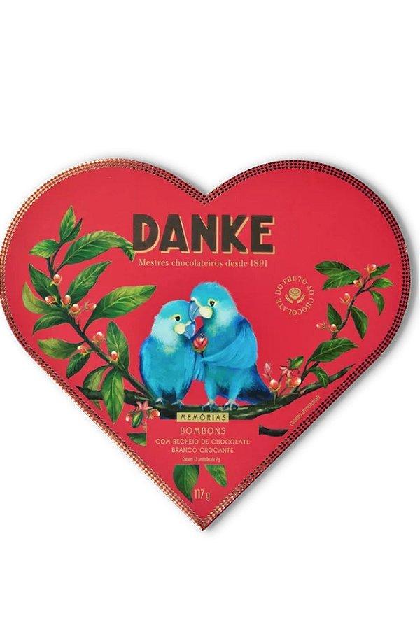Caixa Coração Bombons Danke Com Recheio De Chocolate Branco Crocantes