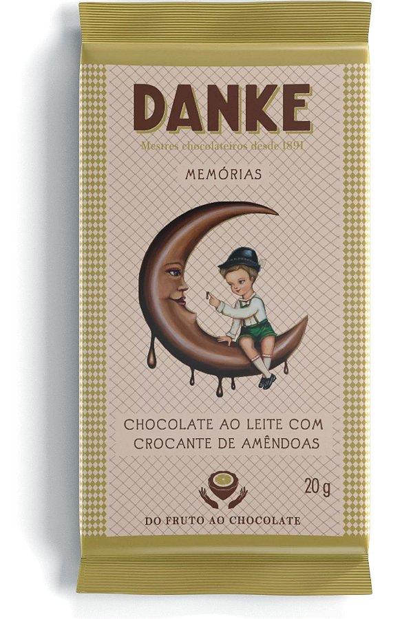 Chocolate Danke Ao Leite Com Croncante De Amêndoas