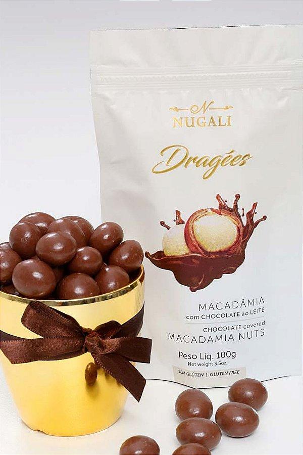 Dragées Nugali  Macadâmia Com Chocolate 100g