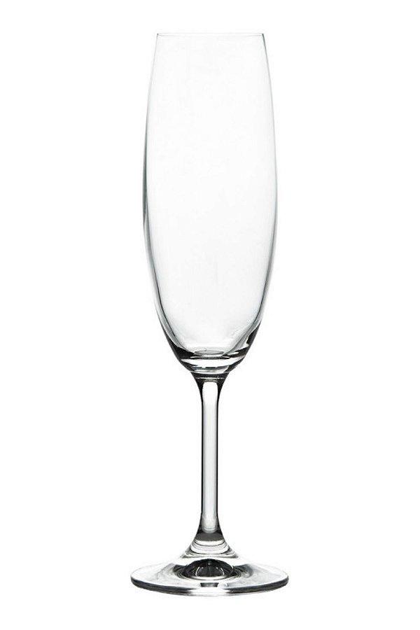 Taça Para Champanhe Em Cristal Ecológico 220ml (Linha Anna)