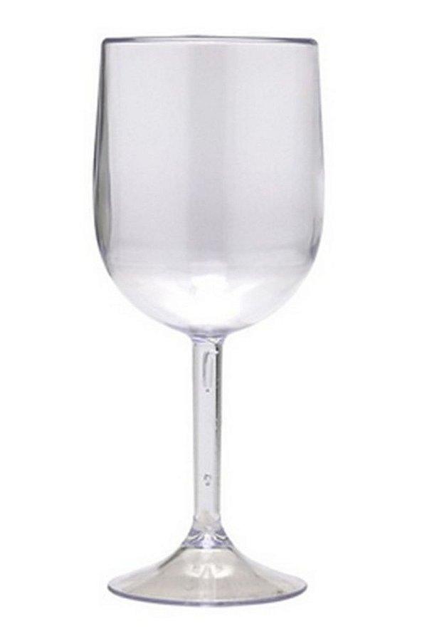 Taça Para Vinho Em Acrílico Transparente 420 ml