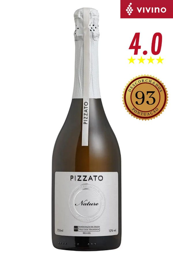 Espumante Pizzato Nature Tradicional D.O.V.V 750 ml