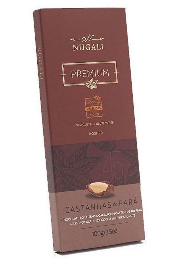 Chocolate Nugali ao Leite C/Castanhas Do Pará 100g