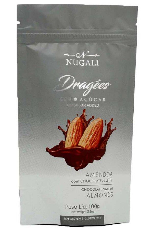 Dragees Zero Açúcar Amêndoa Com Chocolate Ao Leite