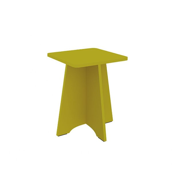 Banqueta Twister Amarelo - Tililin Móveis