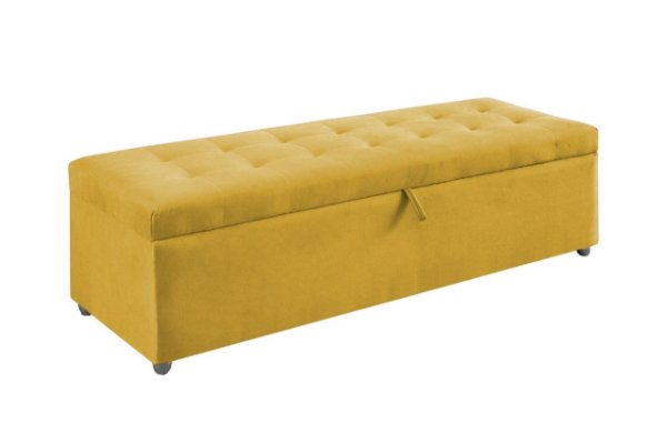 Puff Baú Maupes - Amarelo