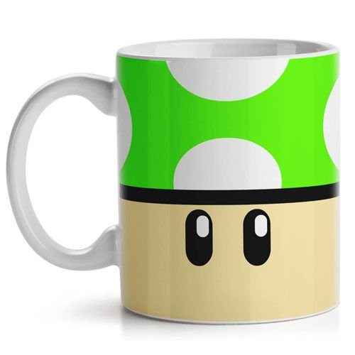 Caneca Super Mario 1Up Verde