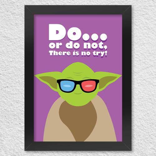 Poster Com Moldura Mestre Yoda