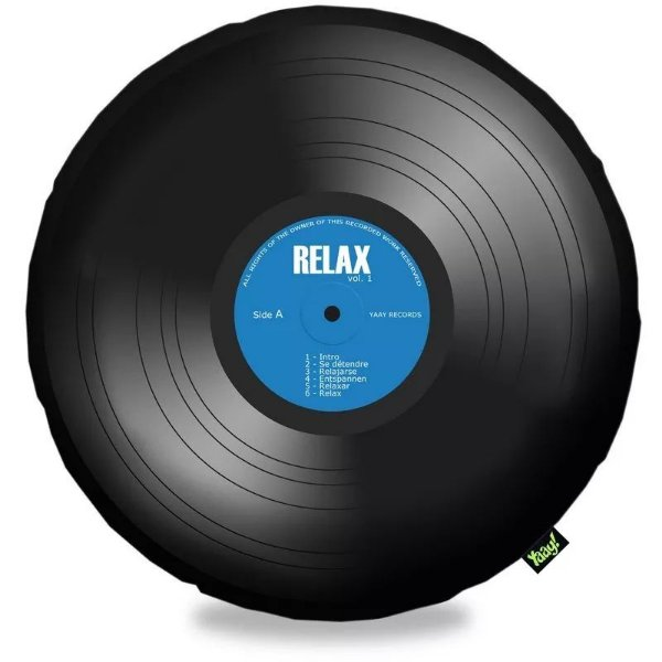 Almofada Disco de Vinil LP Bolachão Relax