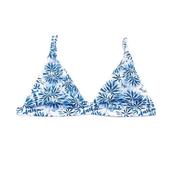 Top Triangulo Tie Dye Blue