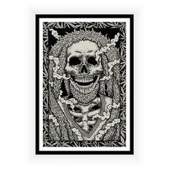 Poster Skull Rasta
