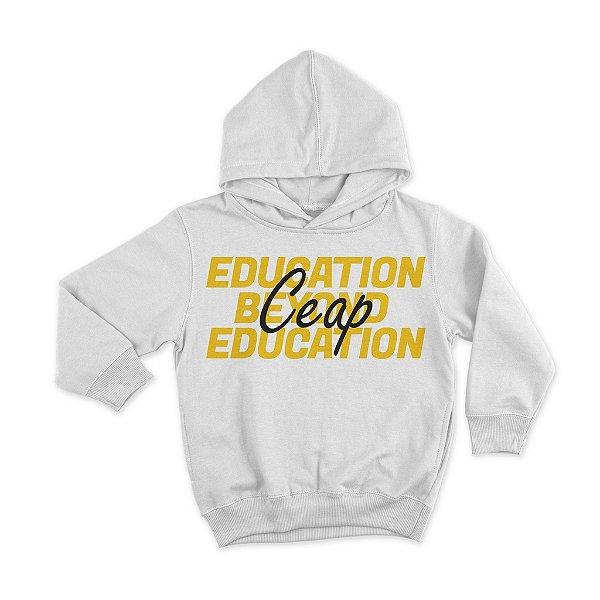 Blusa moletom branca education beyond education