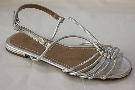 Sandália 6 Tirinhas com Nós e Tira Traseira