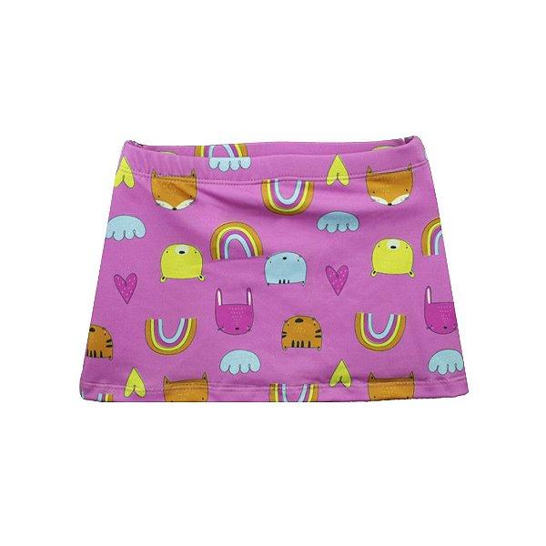 Saia Short FPU 50+ Bichos Pink