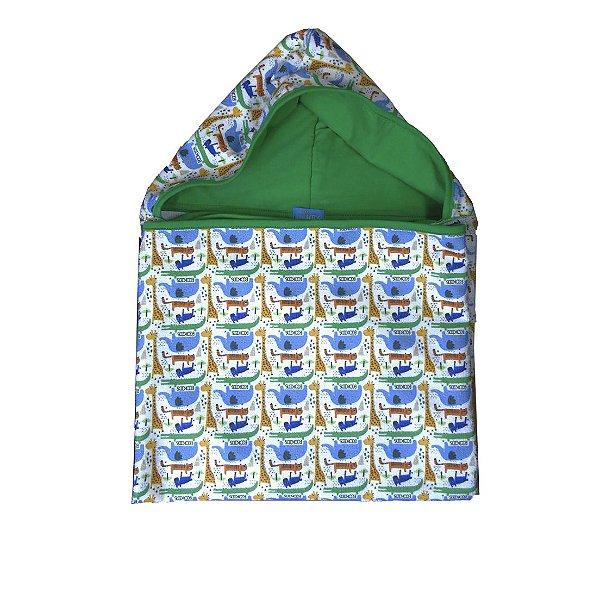Toalha Super Absorvente com Capuz Animais Multicolorido