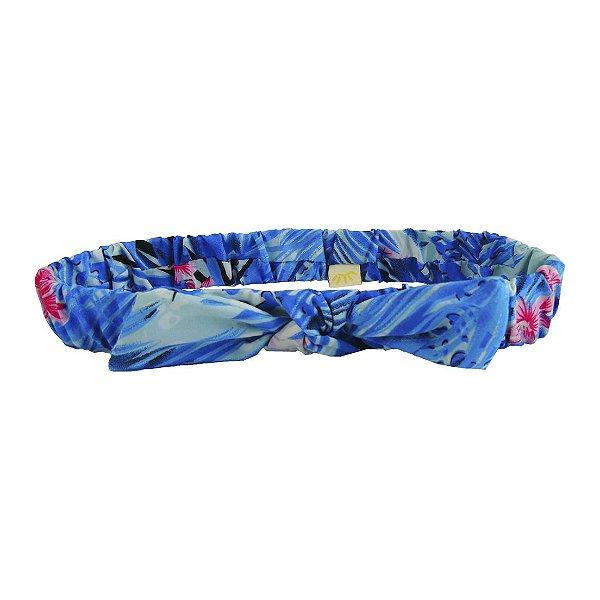 Faixa de Cabelo com Elástico e Laço Aloha Multicolorido