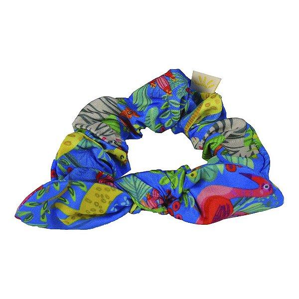 Xuxinha de Cabelo com Elástico e Laço Savana Multicolorido