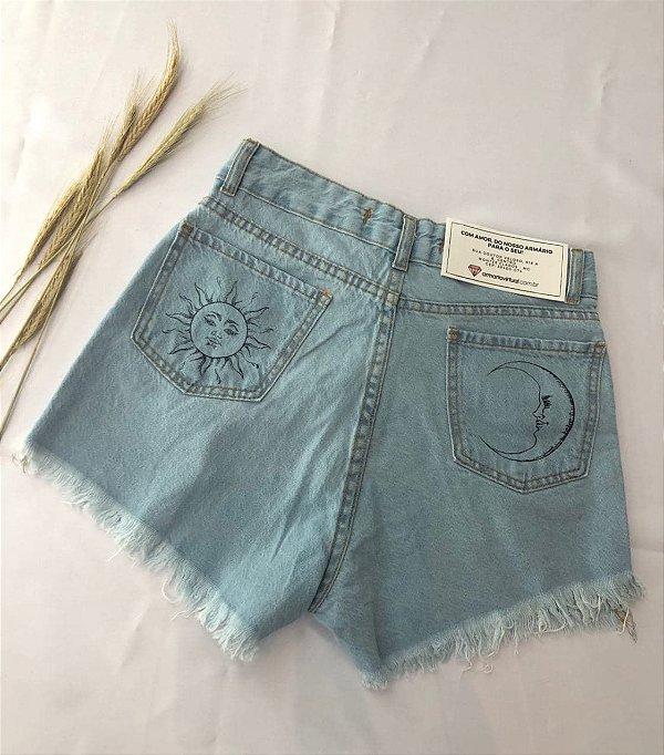 Short Jeans Sol e Lua
