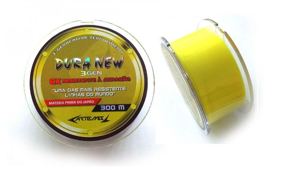 Linha Monofilamento Dura New Soft Yellow 300 Metros