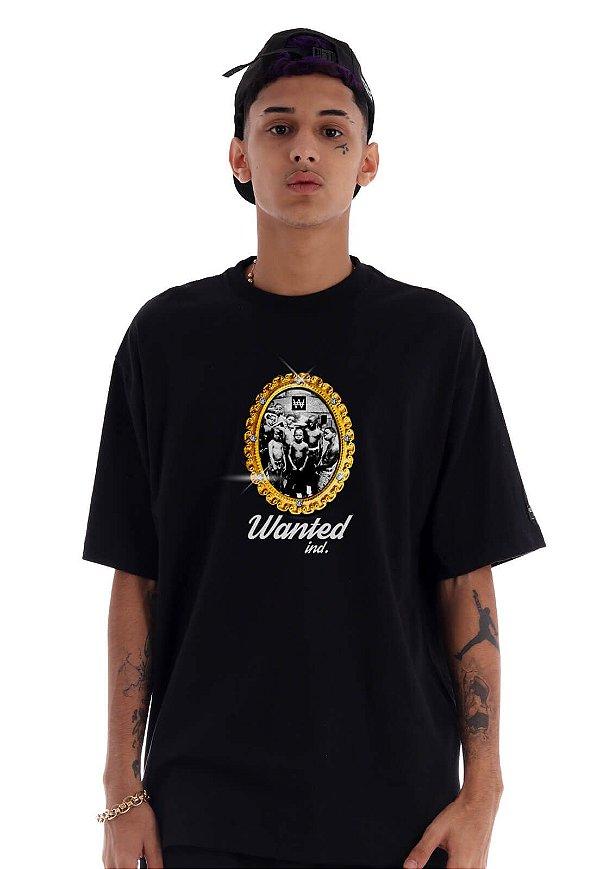 Camiseta Premium Wanted - Portrait Preta