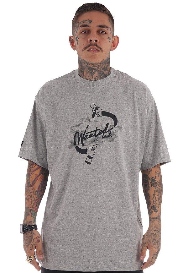 Camiseta Premium Wanted - Ind Cinza