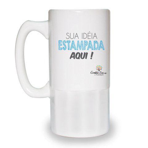 CANECA DE CHOPP DE CERAMICA PERSONALIZADA 525 Ml