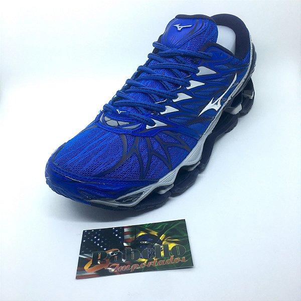 Tênis Mizuno Wave Prophecy 7  - Azul/Cinza
